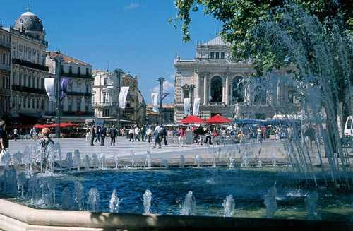 il centro di Montpellier