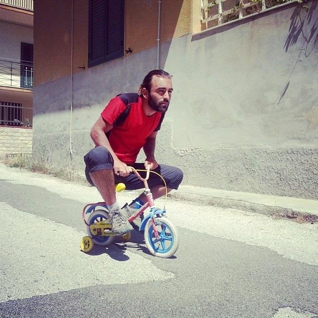 Daniele Carletti in bici