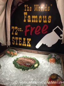 72 Oz Steak