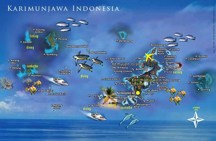 mappa delle Karimunjawa