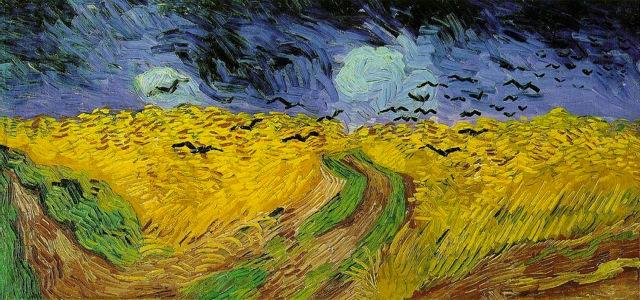 campo di grano con volo di corvi van gogh