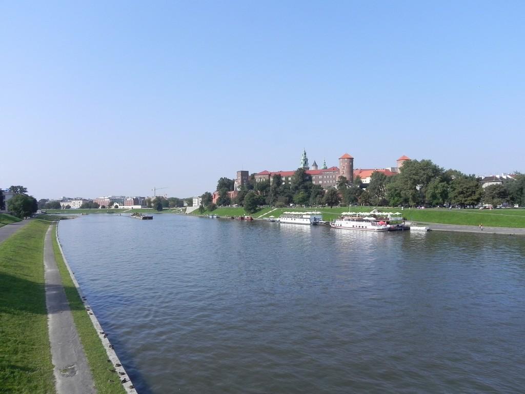 fiume vistola e castello di wawel