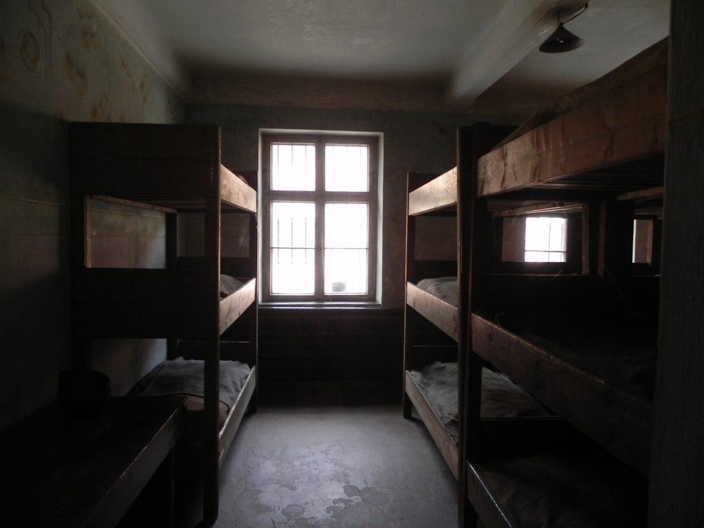 stanzetta dormitoio di Auschwitz