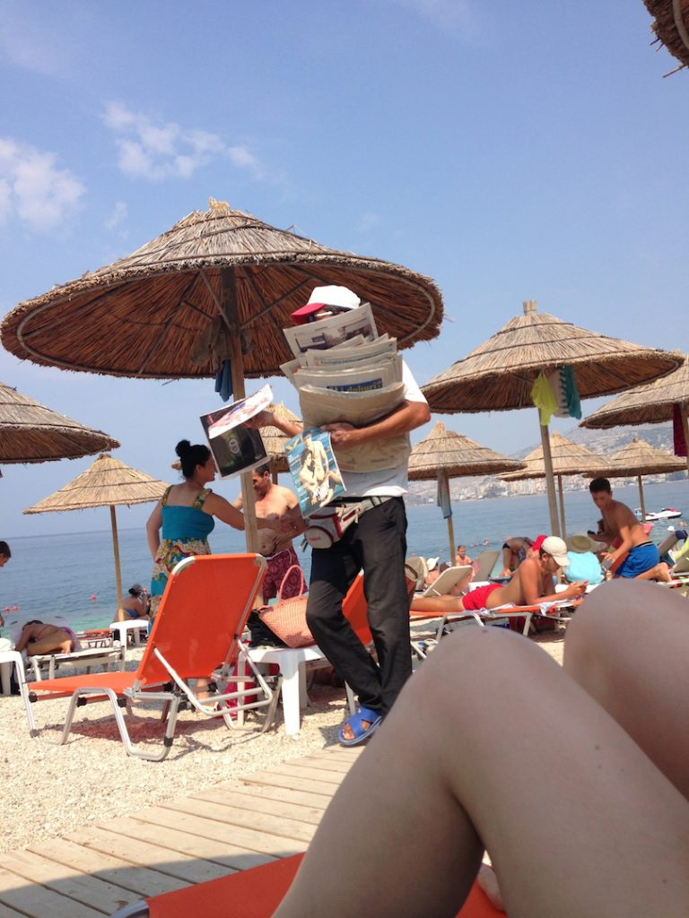 giornalaio da spiaggia