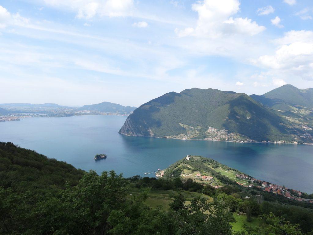 Monte Isola dall'alto