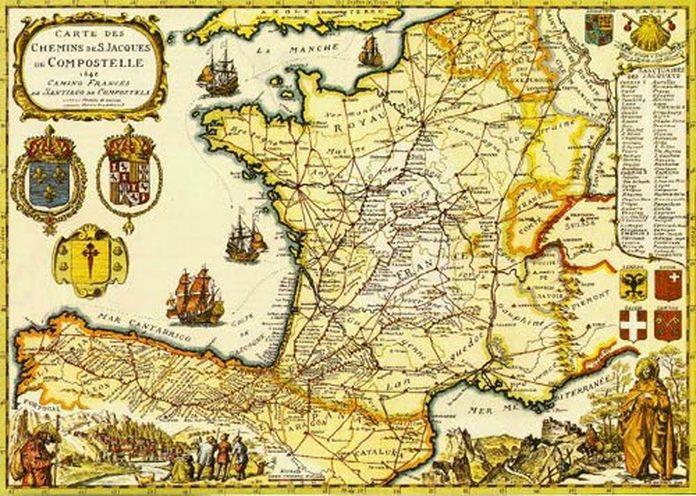 camino santiago maps