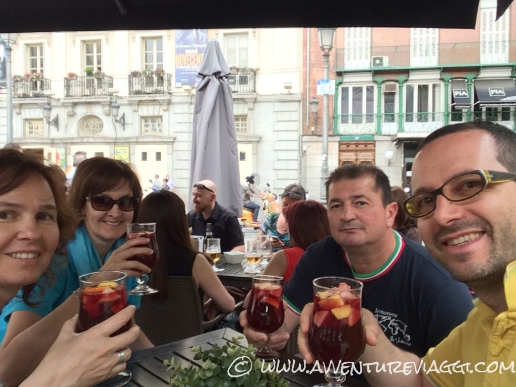 Sangria in plaza sant'ana Madrid