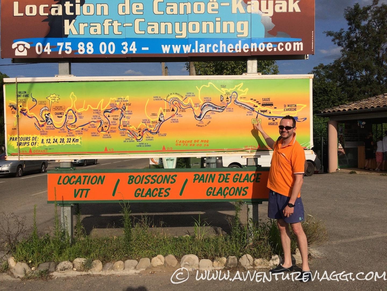 percorso dei 24 km ardeche