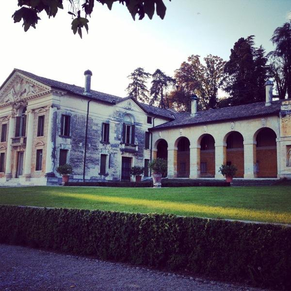 vista laterale Villa Maser
