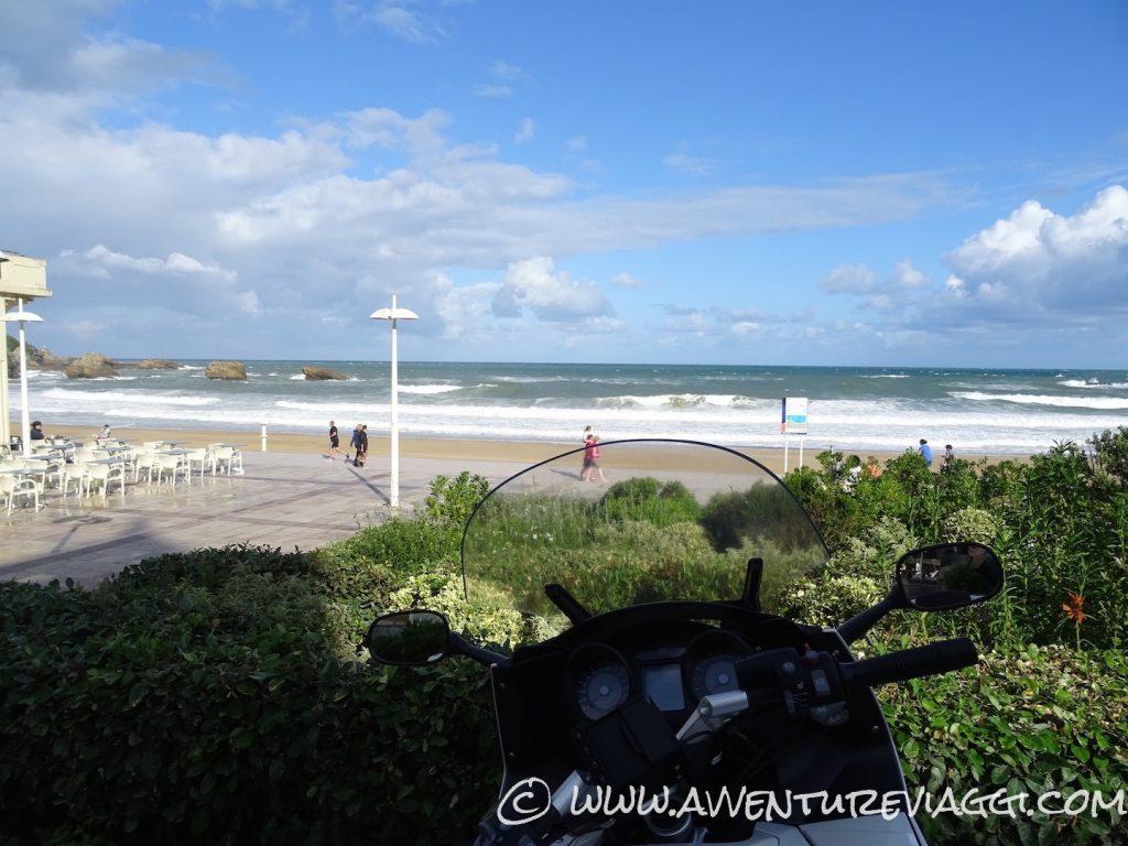 biarritz grande plage view