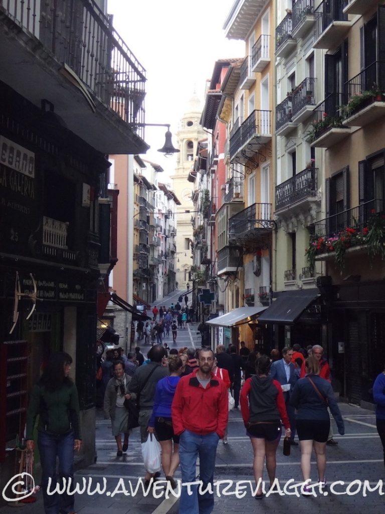 le vie della corsa di San Firmino Pamplona