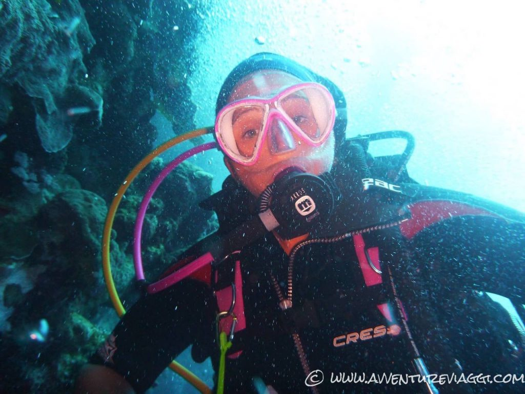 Romina underwater