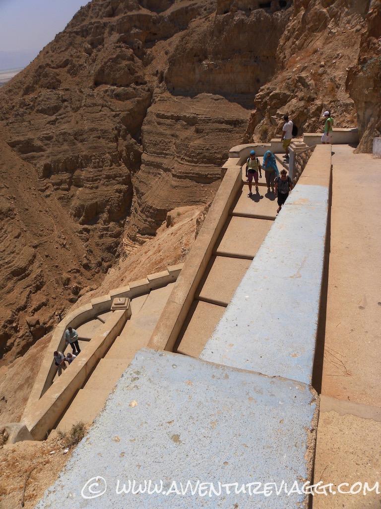 la scalinata del canyon gerico