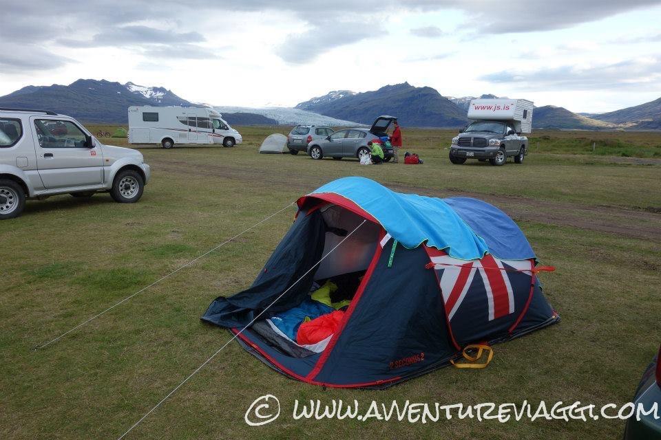 tenda e 4x4 in islanda