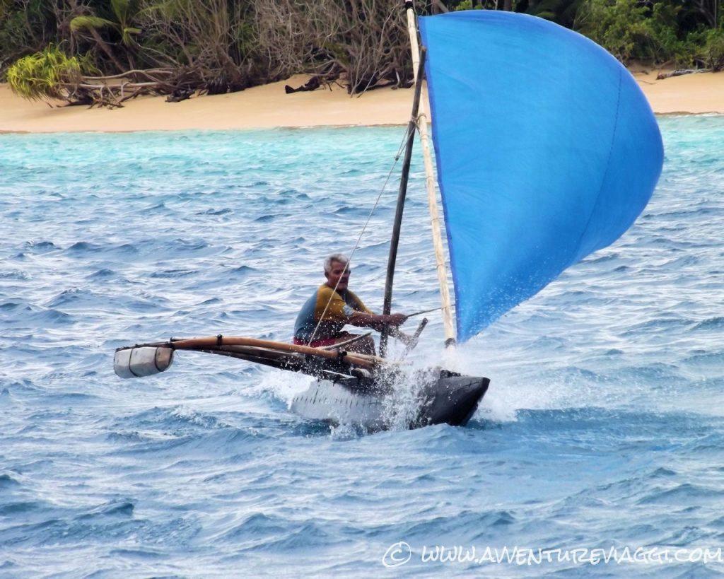 Nukufetau canoa di un pescatore locale
