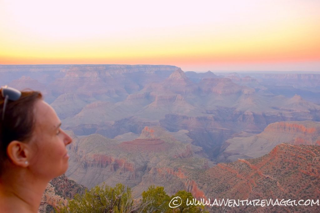 think look sunset gran canyon