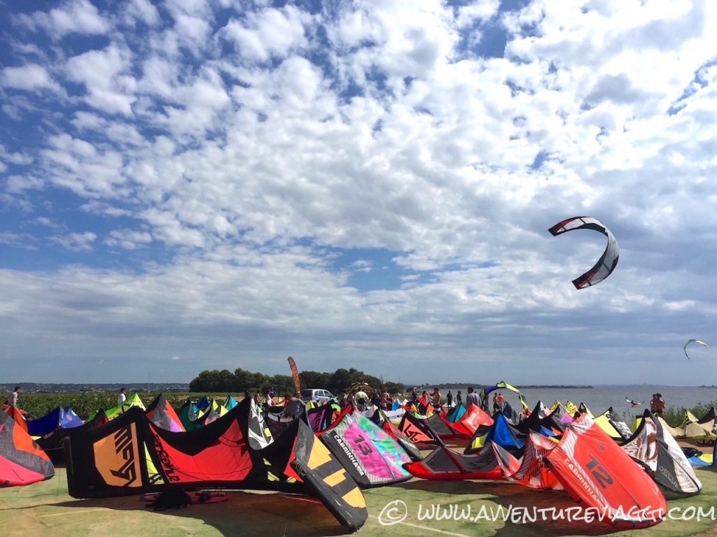 kite surf sullo stagnone